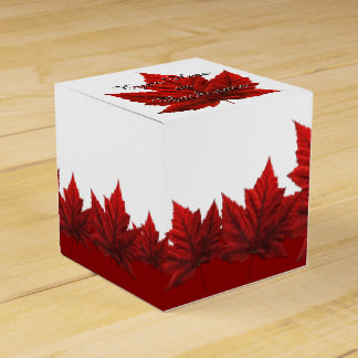 Canada Gift Box Personalize Canada Leaf Gift Boxes Party Favor Box