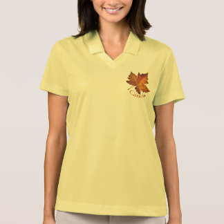 Canada Golf Shirt Women's Canada Maple Leaf Shirt