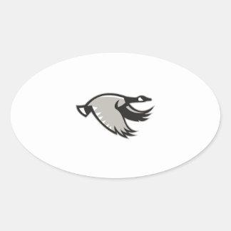 Canada Goose Flying Retro Oval Sticker
