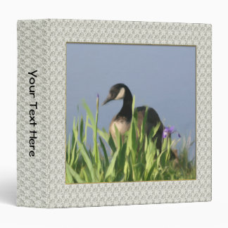 Canada Goose Irises Painting Animal 3 Ring Binder