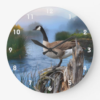 CANADA GOOSE ON THE SHASTA 2 LARGE CLOCK
