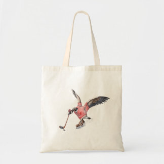 Canada Goose Playing Hockey Tote Bag
