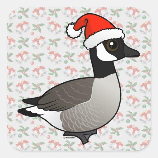 Canada Goose Santa Square Sticker