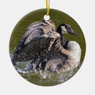 Canada Goose With Attitude Ceramic Ornament