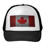 Canada Grunge Flag Canadian Maple Leaf Trucker Hats