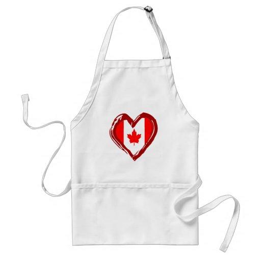 Canada Heart Aprons