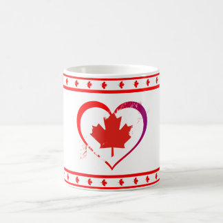 Canada heart coffee mug
