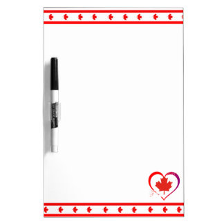 Canada heart dry erase board