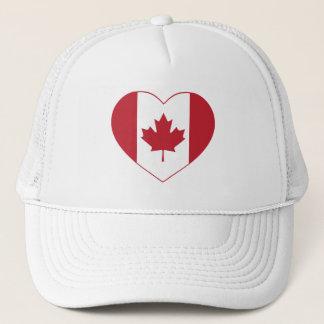 Canada Heart Flag Trucker Hat