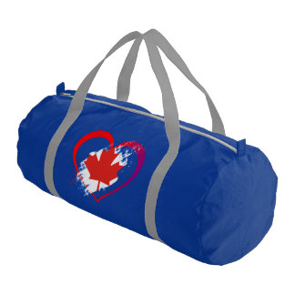 Canada heart gym bag