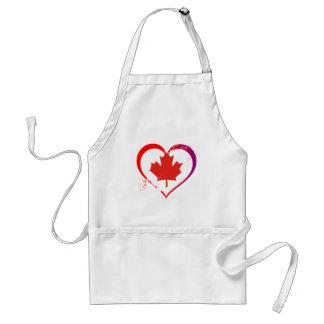 Canada heart standard apron
