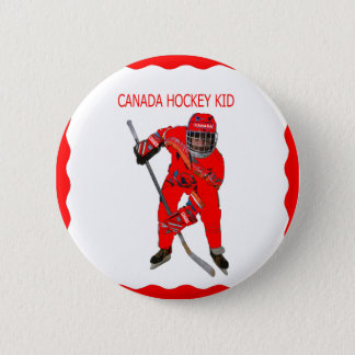 CANADA HOCKEY KID-BUTTON 2 INCH ROUND BUTTON