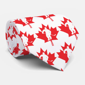 Canada Hockey Maple Leaf Player Tie