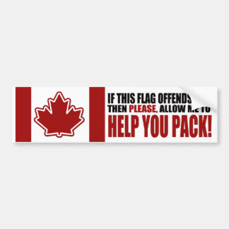 CANADA If This Flag Offends You Car Bumper Sticker