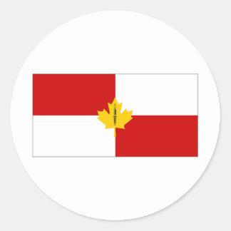 Canada Infantry Branch Camp Flag Round Sticker