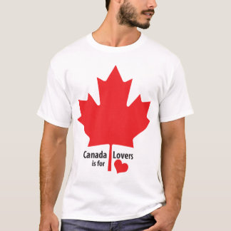 Canada is for Lovers Maple Leaf T-Shirt