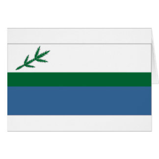 Canada Labrador local flag Card