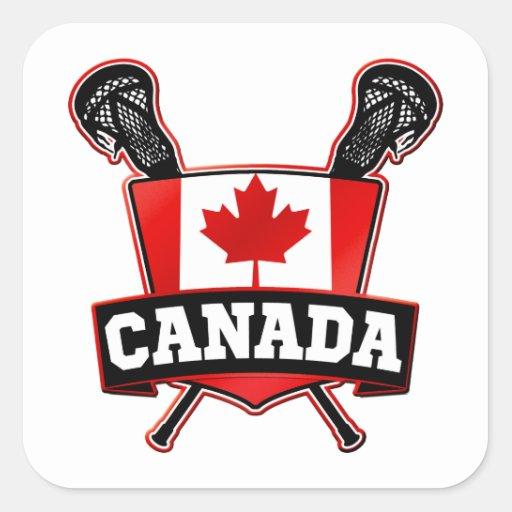 Canada Lacrosse Logo Sticker