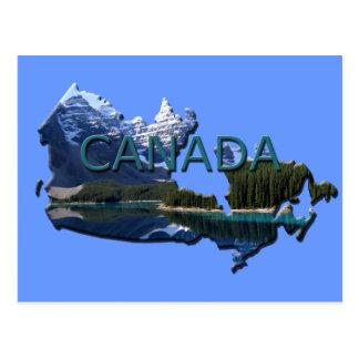 Canada Landscape Map Postcard