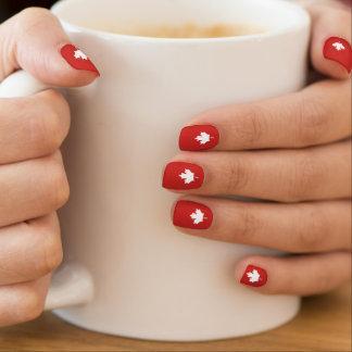 Canada leaf nails minx nail art