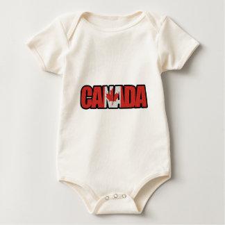 Canada Logo Clothing Baby Bodysuit