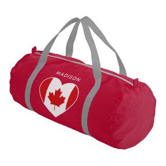 Canada Love custom name gym bags