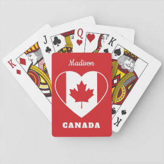 Canada Love custom name playing cards