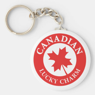 Canada Lucky Charm Luck ED. Series Basic Round Button Keychain