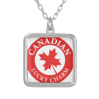 Canada Lucky Charm Luck ED. Series Silver Plated Necklace