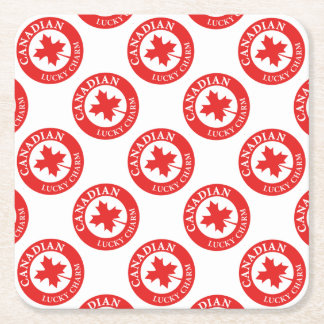 Canada Lucky Charm Luck ED. Series Square Paper Coaster