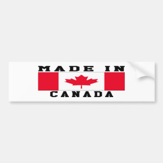 Canada Made In Designs Bumper Sticker