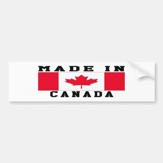 Canada Made In Designs Bumper Sticker