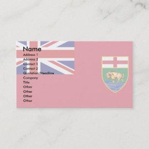 Canada manitoba flag gifts on zazzle ca canada manitoba flag business card negle Choice Image