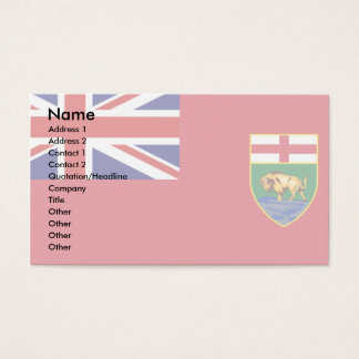 Canada Manitoba Flag Business Card