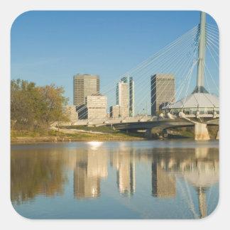 CANADA, Manitoba, Winnipeg: Esplanade Riel 2 Square Sticker