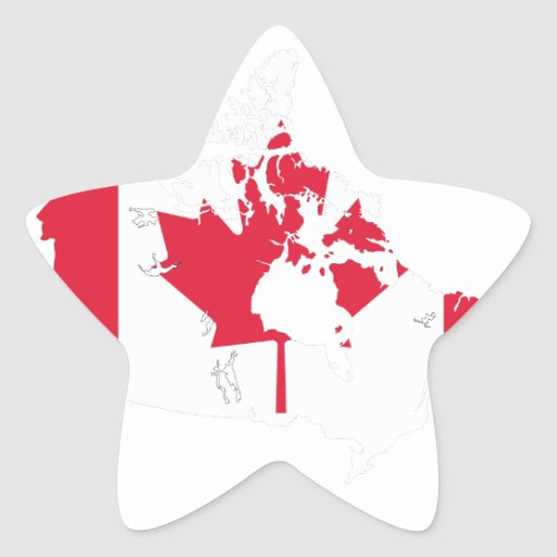 Canada map and flag - sticker