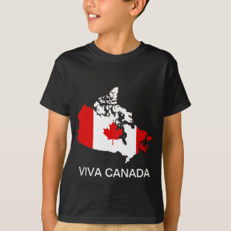 Canada map and flag tee shirt
