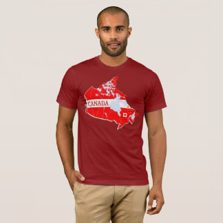 Canada Map Designer Shirt Apparel Sale; Man  Lady