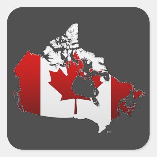 Canada: Map Square Sticker