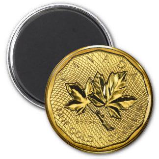 Canada Maple Leaf 1oz Gold 2 Inch Round Magnet