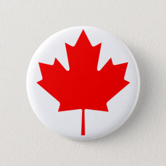 Canada Maple Leaf 2 Inch Round Button