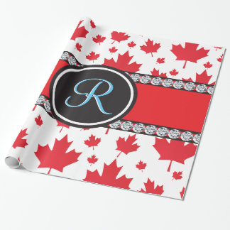 Canada Maple Leaf Abstract Diamond Monogram