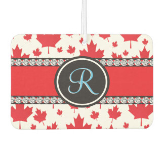 Canada Maple Leaf Abstract Diamond Monogram Air Freshener