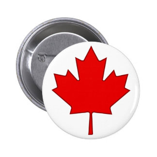 Canada Maple Leaf Button