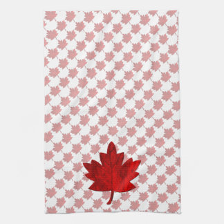 Canada-Maple Leaf by Shirley Taylor Kitchen Towel
