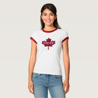Canada Maple Leaf Canuck Ringer Shirt