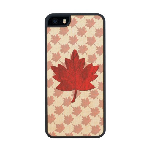 Canada-Maple Leaf Carved® Maple iPhone 5 Case