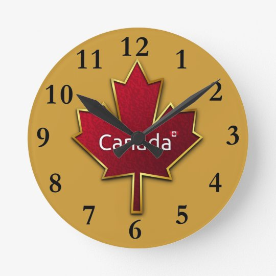 Canada Maple Leaf Clock