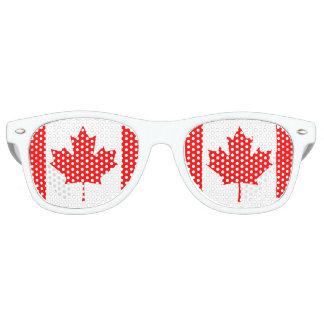 Canada Maple Leaf Flag Colors Retro Sunglasses