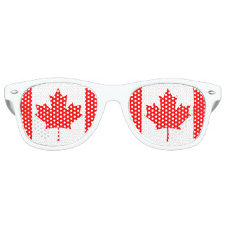 Canada Maple Leaf Flag Colors Sunglasses
